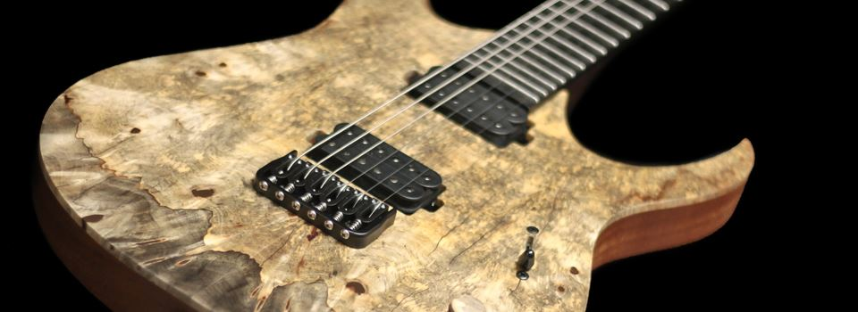 Mayones   Duvell 6 MBC Natural Buckeye Burl Satin