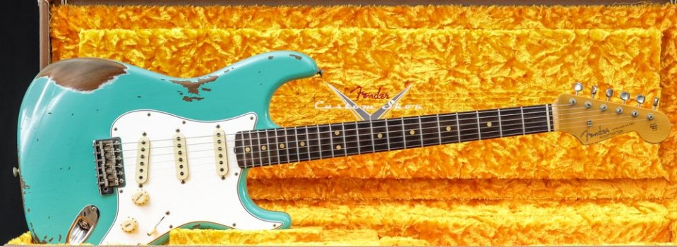 Fender Custom shop  63 Strat Heavy Relic Sea Foam Green