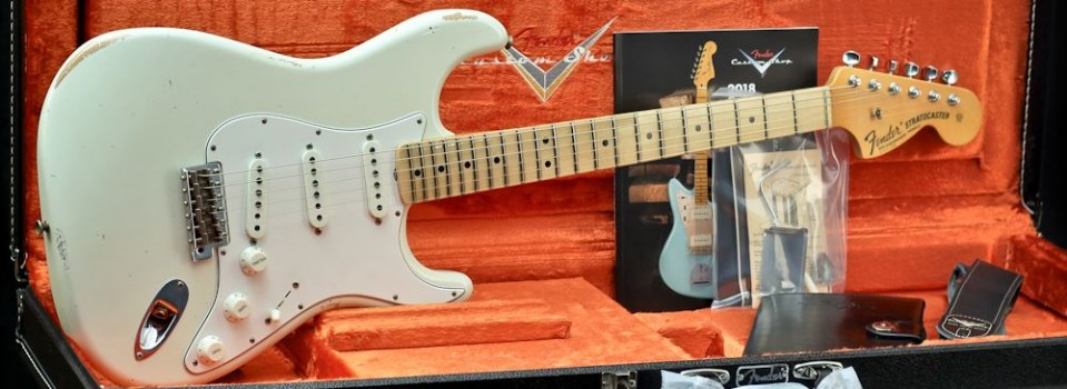 Fender Custom shop  68 Strat Relic, Maple Fingerboard, Aged Olympic White