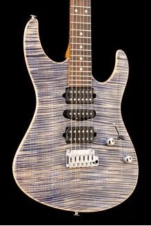 Modern Plus, Trans Blue Denim/Slate, PF fingerboard