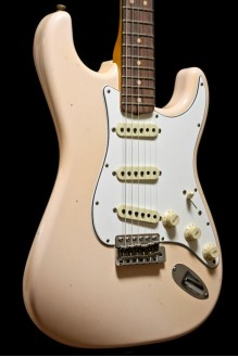 64 Strat RW Super Faded/Aged Shell Pink 2018 NAMM LTD