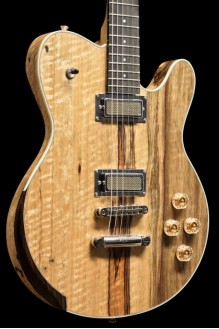 Rochelle - Limba Body and Neck, Creamery Gold Foil Pickups