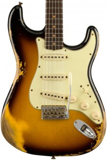 1960 Stratocaster, heavy relic, faded aged 3-color sunburst preorder