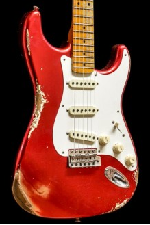 55 Strat Heavy Relic MN Candy Apple Red
