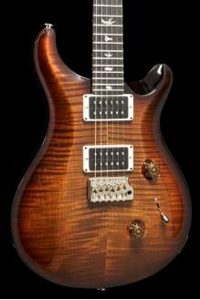 Custom 24 Black Gold Burst Pattern Thin