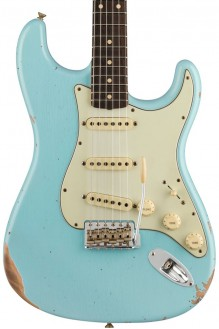 Limited edition 1960 Stratocaster, relic, faded aged daphne blue preorder