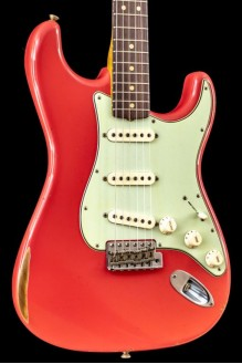 64 Strat Relic Faded Fiesta Red NAMM Ltd Ed