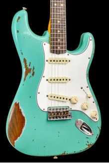 63 Strat Heavy Relic Sea Foam Green