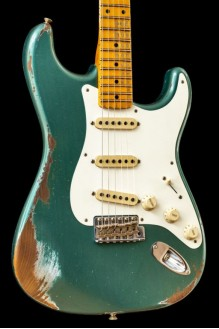 56 Strat Heavy Relic Sherwood Green Mn