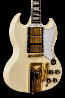 Classic White Sideways 60th Anniversary 1961 SG Les Paul Vibrola