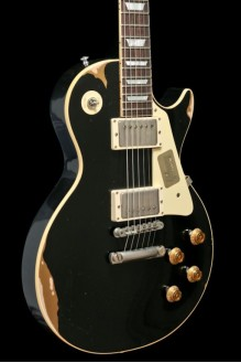 Les Paul Standard Black Over Gold Aged