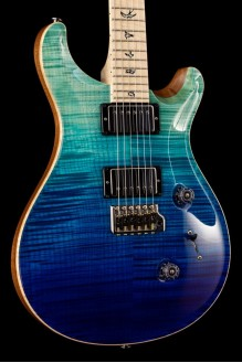 Wood Library CU24 Limited Blue Fade  Maple Neck