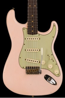 #134 LTD '60 Stratocaster - Journeyman relic, super faded aged shell pink preorder