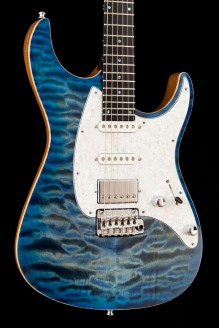 Aquila QM Quilted Maple 6 string, 2 Tone Blue Burst