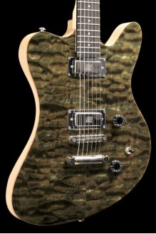 Flint - F-Bird/J-Master Style Offset w/ Quilt Maple Top, Seymour Duncan Mini-Humbuckers