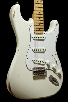 68 Strat Relic, Maple Fingerboard, Aged Olympic White