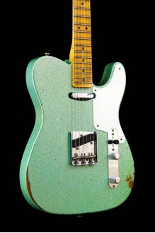 Limited edition roasted pine double esquire SFG Sparkle relic namm  LTD