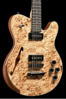 Rochelle - Semi Hollow Mahogany, Mappa Burl Top, Lollar P90