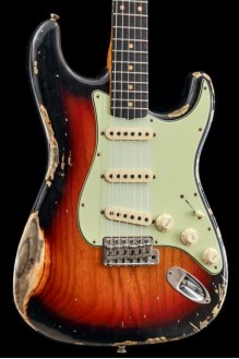 60s Strat Heavy Relic/Compound Radius 3-Color Sunburst