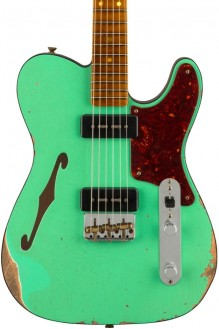 Limited edition dual p90 thinline tele, relic, foam green top with aged natura preorder