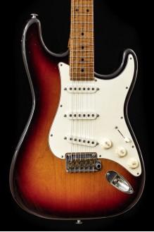 Classic S Antique LTD (4 pcs worldwide) Roasted Flame Neck, Nitro/Nickel, Three Tone Sunburst