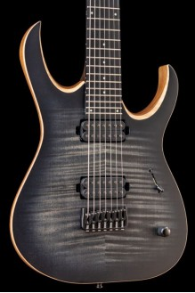 Duvell Elite 7 Trans Graphite Maple Top w/Matching Headstock